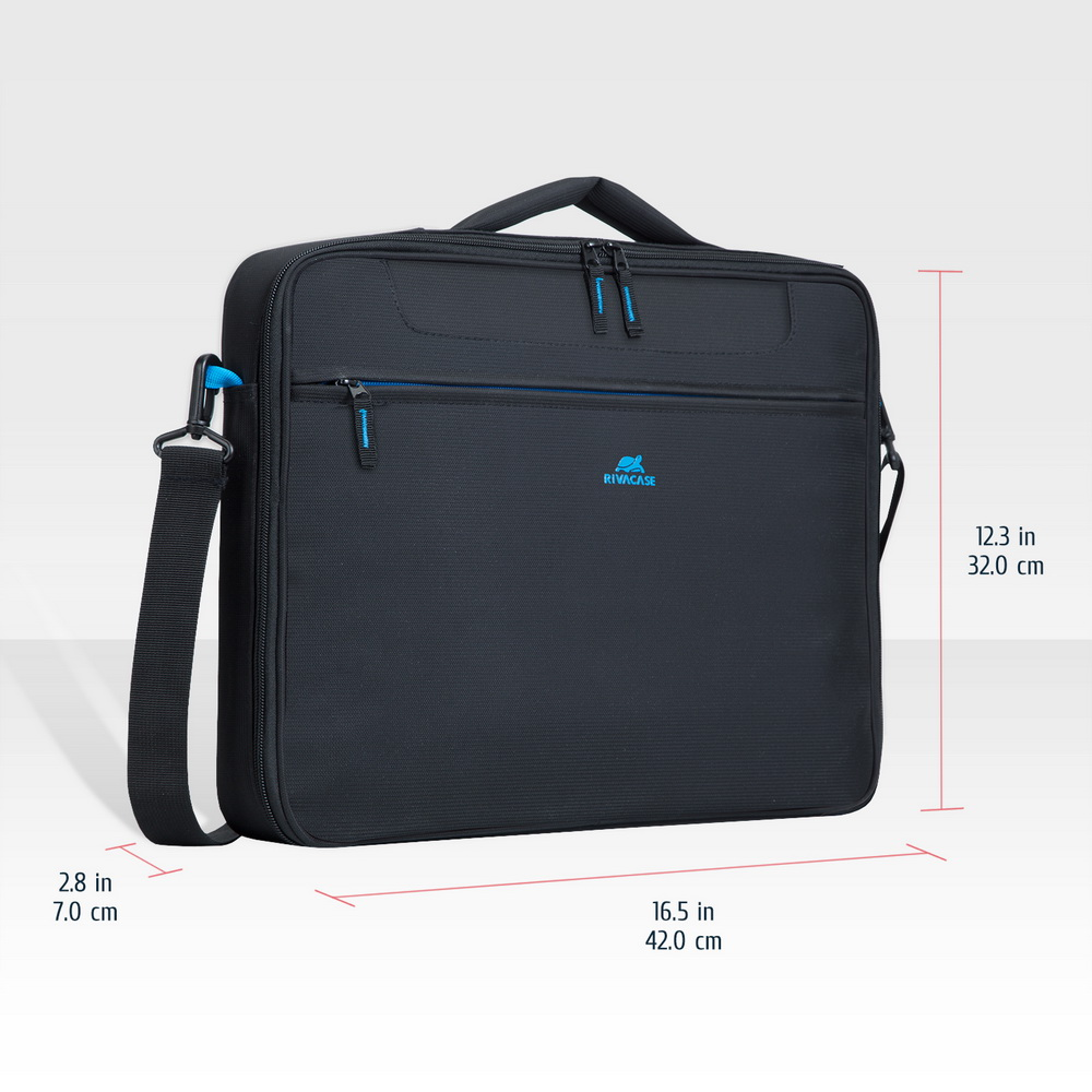 8087 black Clamshell Laptop bag 16
