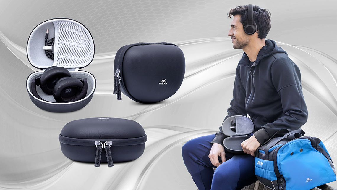 Universal headphone hard-shell case - lightweight & durable