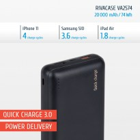 VA2574 (20 000mAh) QC/PD portable rechargeable battery