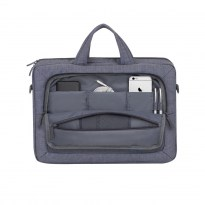 7530 grey Laptop Canvas shoulder bag 15.6