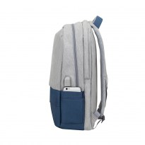 7567 grey/dark blue anti-theft Laptop backpack 17.3