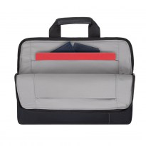 8920 (PU) black slim Laptop bag 13.3