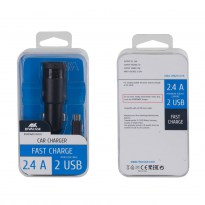VA4222 BD1 EN car charger (2 USB /2.4 A), with Micro USB data cable